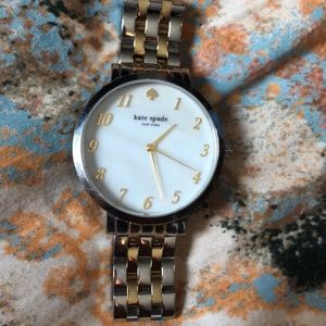 Gold and silver Kate spade watch